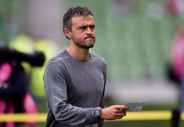 Luis Enrique, entrenador del FC Barcelona