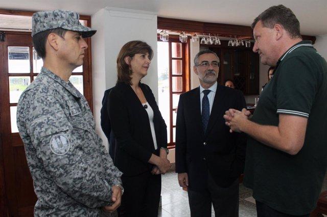 Holguín visita a supervivientes del accidente de avión de la Chapecoense
