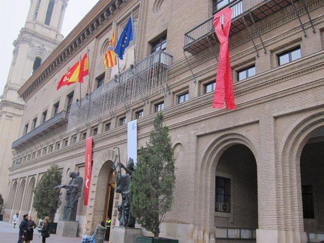 Lazo SIDA En Ayuntamiento Zaragoza
