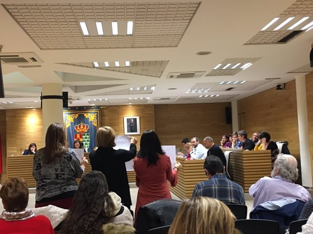 Pleno municipal en Getafe