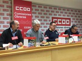 C-LM cuenta con 364.500 pensionistas y una pensión media de 837 euros, según CCOO