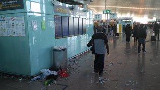 Huelga de limpieza en el Aeropuerto de Barcelona