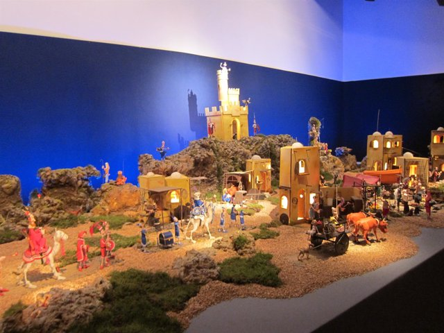 El belén de plastilina de la Fundación Mercedes Calles de Cáceres