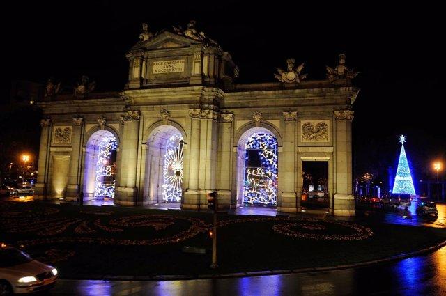 Luces de Navidad en Madrid.