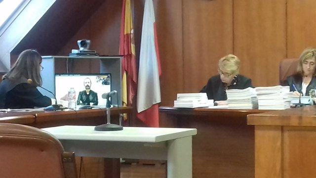 Videoconferencia del exinterventor Fernando Urruticoechea en el juicio de Trapur