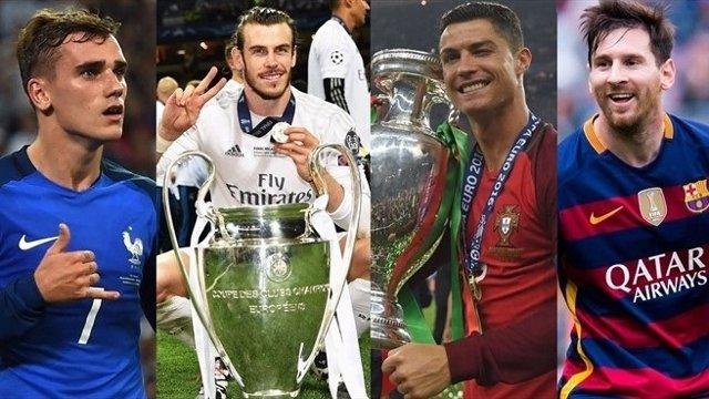 Antoine Griezmann Gareth Bale Cristiano Ronaldo Leo Messi