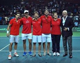 Ferrer, Nadal, López, Feliciano, Conchita y Miguel Díaz