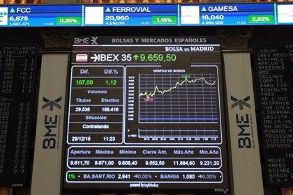 El Ibex 35 cede un 0,22%, estancado en los 8.600 puntos, con Popular ganando un 13,6%