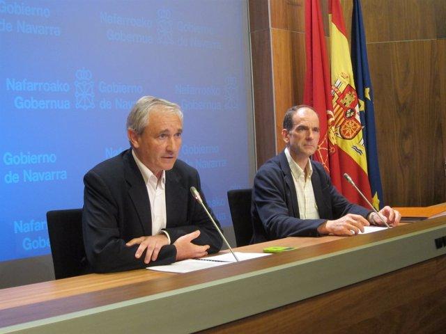 Mikel Aranburu y Luis Esáin