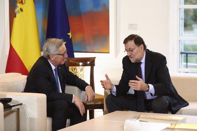 Rajoy recibe en la Moncloa a Jean-Claude Juncker
