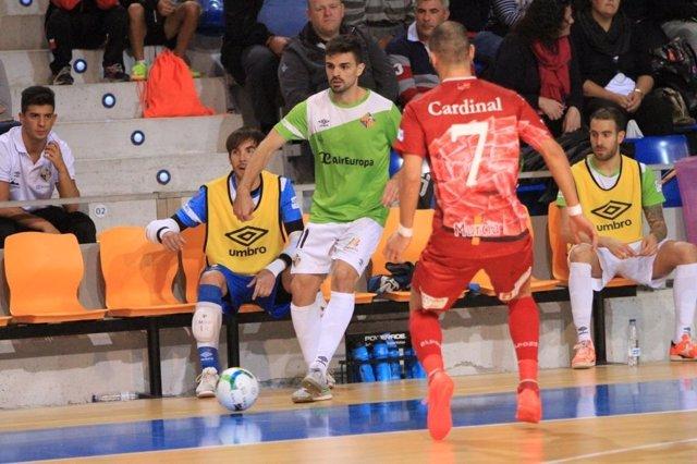 Palma Futsal en un partido ante ElPozo, con Cardinal