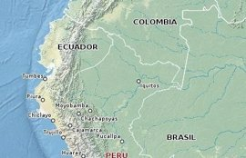 Registrado un terremoto de magnitud 5,5 en el sur de Perú
