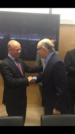 Carrillo y Montoro en la reunión del CPFF