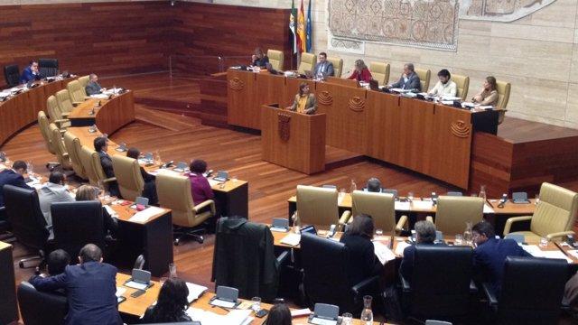 Pleno de debate de los presupuestos extremeños para 2017