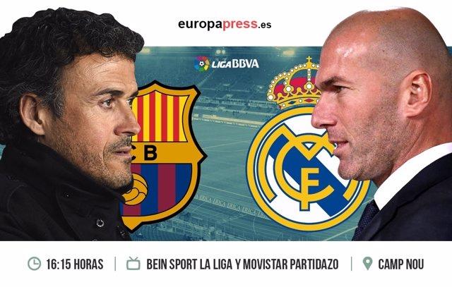 Horario y dónde ver el Barcelona - Real Madrid | Decimocuarta jornada Liga