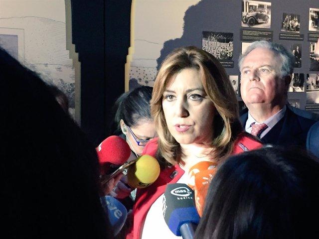 Susana Díaz, hoy ante los medios