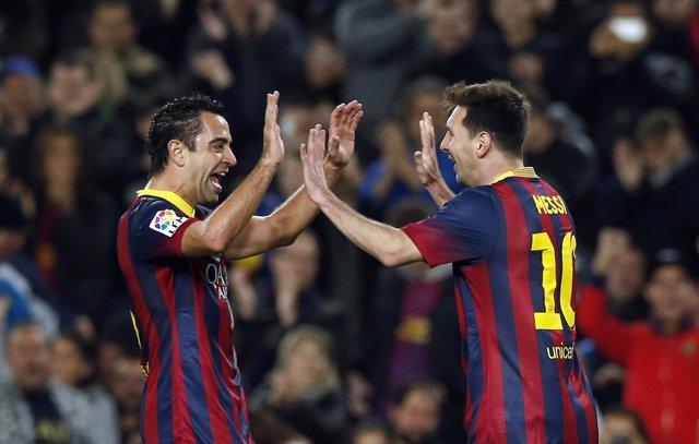 Xavi y Messi, FC Barcelona