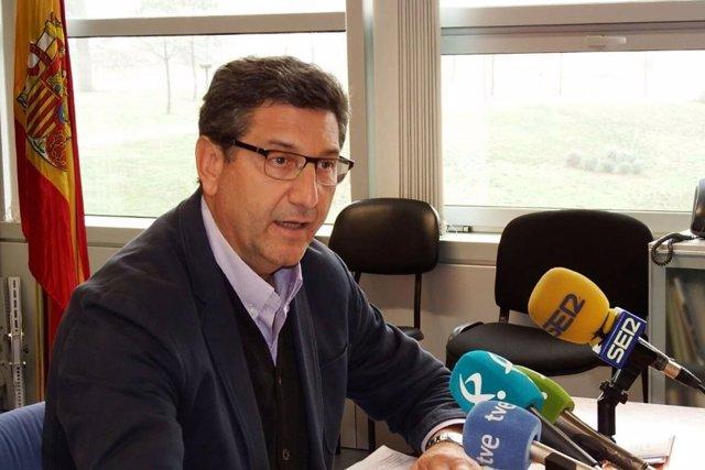 Javier Luna en rueda de prensa