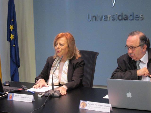 La Consejera De Educación Y Universidades, María Isabel Sánchez-Mora,
