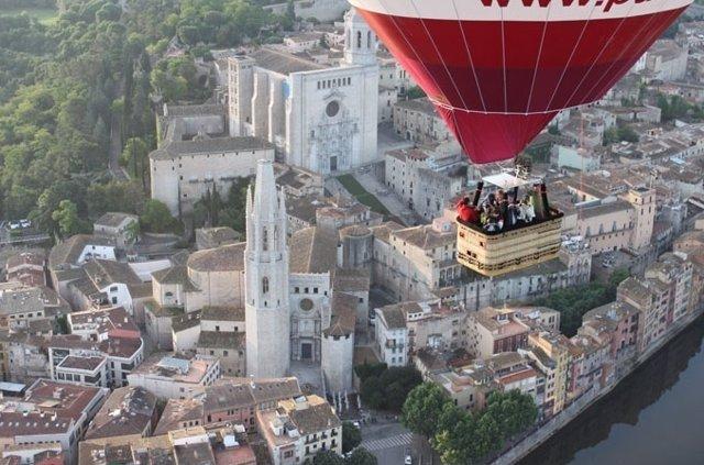 Imagen aerea de la ciudad de Girona