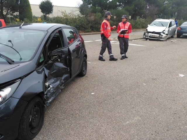 Accidente en Tudela.