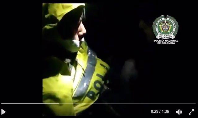 Imagen del rescate de Erwin Tumiri en el siniestro del Chapecoense