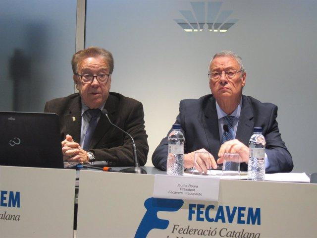 Miquel Donnay (Gremi del Motor) y Jaume Roura (Fecavem y Faconauto)