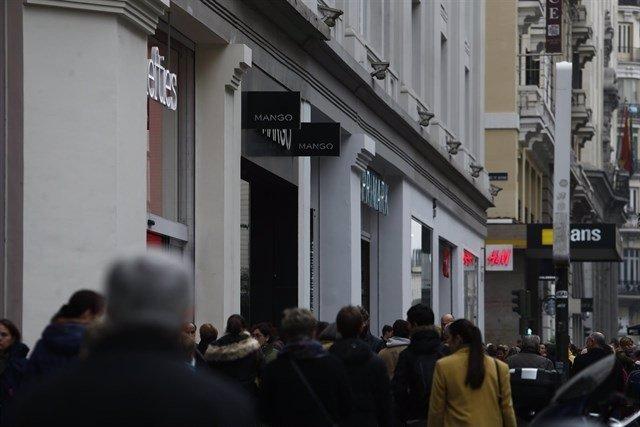 Compras, gente, tiendas
