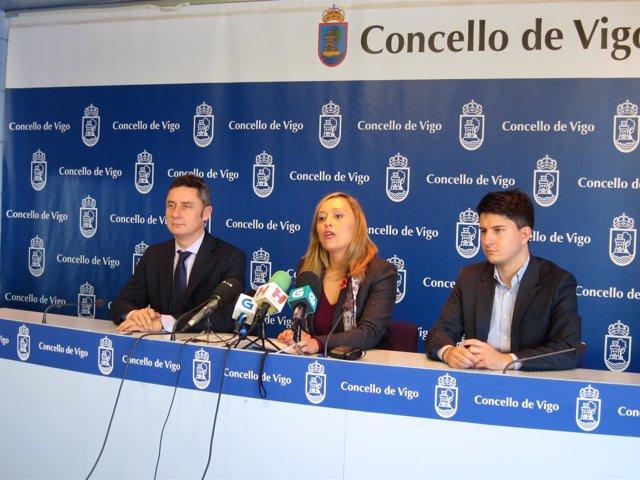 Rueda de prensa del PP de Vigo.