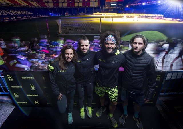 Dabiz Muñoz y Roberto Alaiz en un entrenamiento de Nike