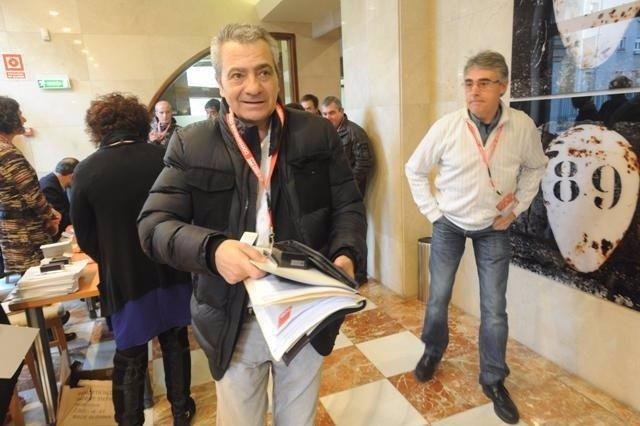 El secretario general de CC.OO en Cantabria, Carlos Sánchez