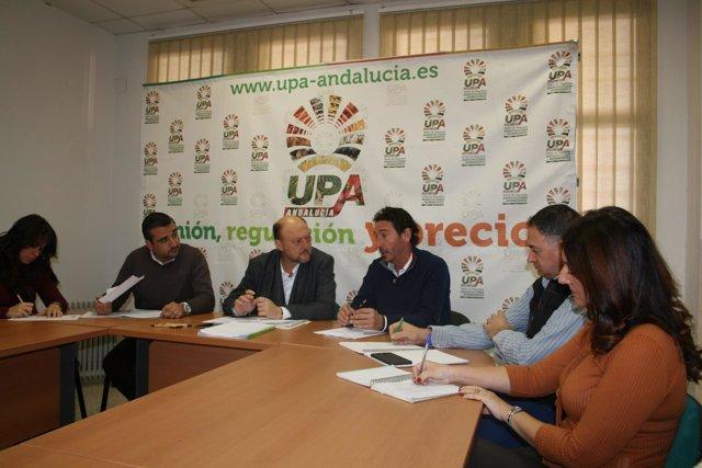 Antonio Pradas, hoy en la reunión