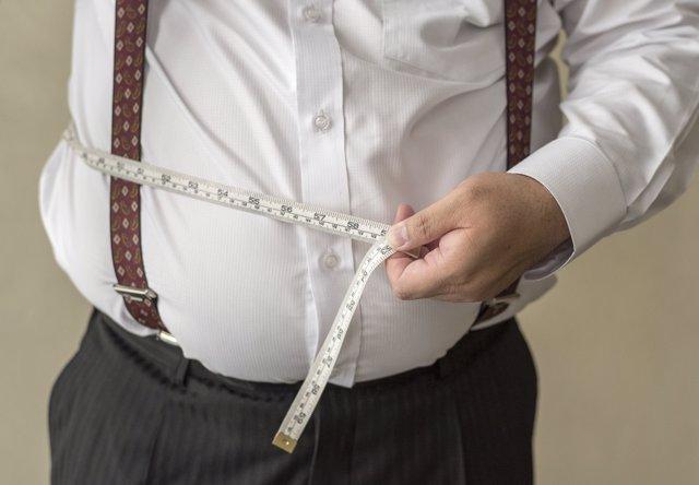 Obesidad, hombre obeso