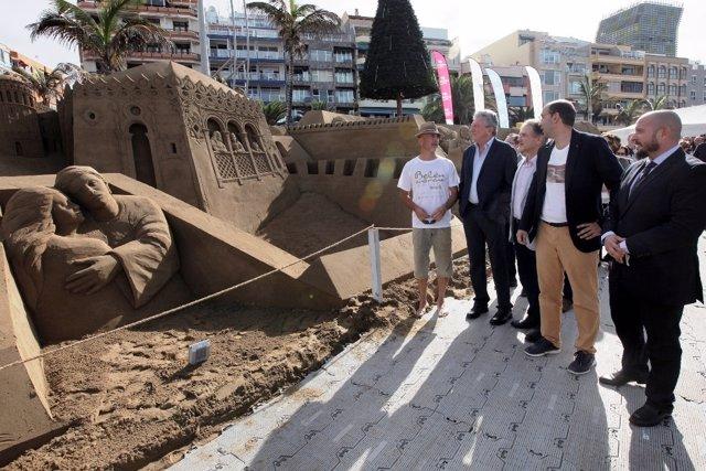 Inauguración Del Belén De Arena De Las Canteras 2.12.2016 - Las Palmas De Gran C