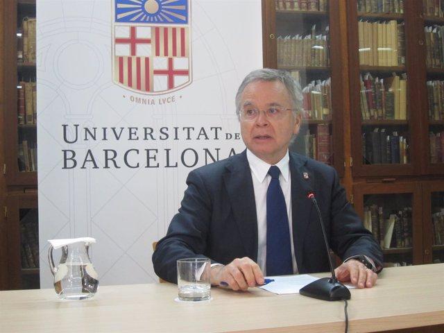 El rector electo de la UB, Joan Elias