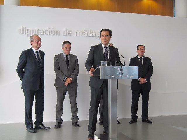 El secretario de Seguridad, José Antonio Nieto, Bendodo, De la Torre, Briones