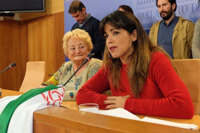 Rueda de prensa de Teresa Rodríguez (Podemos Andalucía)