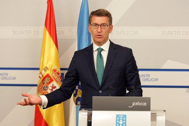 Alberto Núñez Feijóo comparecerá en rolda de prensa para dar conta dos asuntos