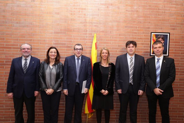 Joan Reñé, Mercè Conesa, Jordi Jané, Annabel Marcos, Pere Vila y J.M.Cruset