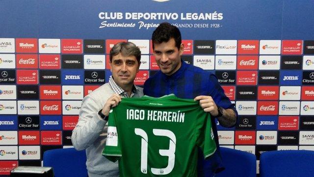 Iago Herrerín se presenta con el C.D. Leganés
