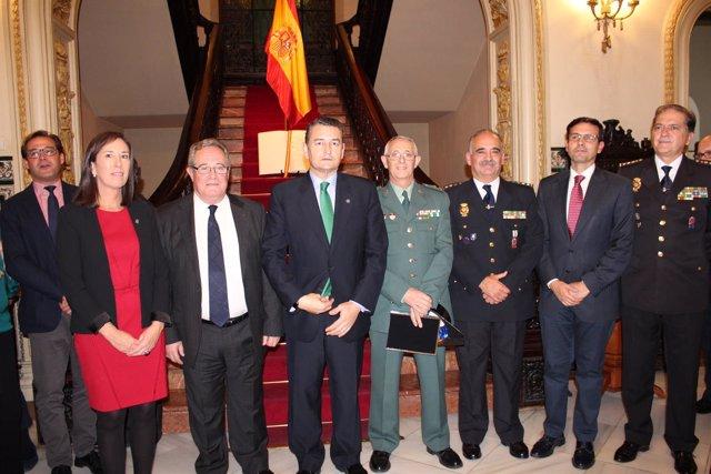 Antonio Sanz en el homenaje a la Constitución en Granada