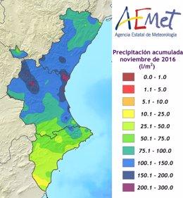 Así queda la precipitación acumulada por zonas en el balance de Aemet
