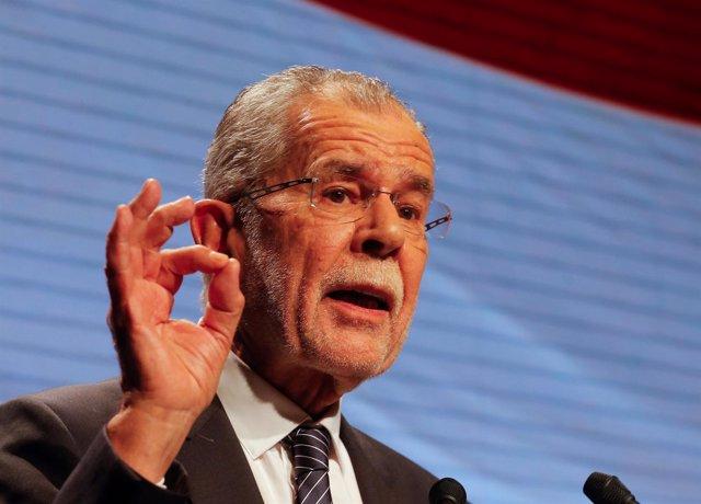 Alexander Van der Bellen, candidato a la Presidencia de Austria