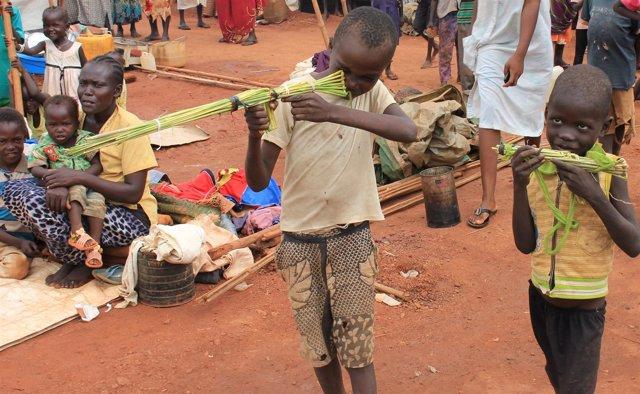 Campo para desplazados en Wau (Sudán del Sur)