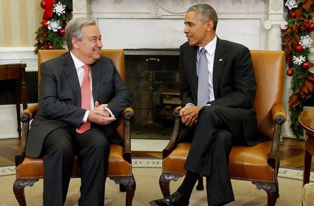 Obama recibe al nuevo secretario general de la ONU, António Guterres