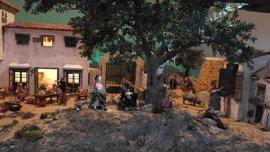 Un belén recrea la dehesa extremeño-alentejana en Badajoz