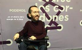 """Echenique cree que PP usa la muerte de Barberá para """"dar pasos atrás"""" y pide que Sánchez dimita si es imputado"""