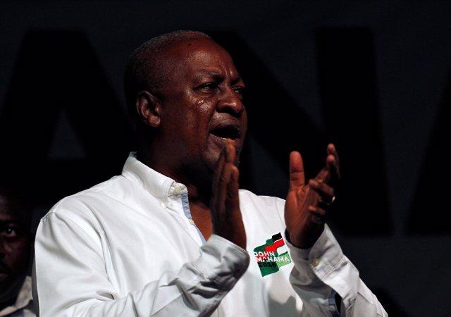 El presidente de Ghana, John Mahama
