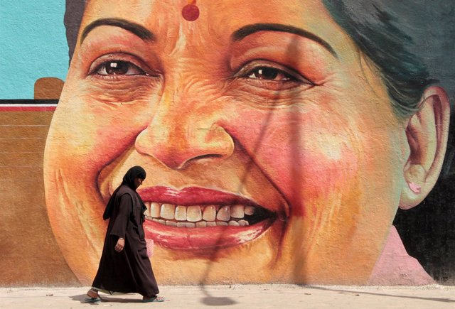 Jayalalithaa, ministra de Tamil Nadu