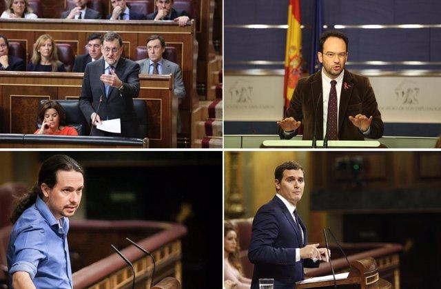 Rajoy, Hernando, Iglesias y Rivera